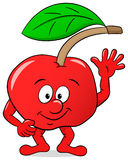 Cartoon cherry on white background Stock Photo