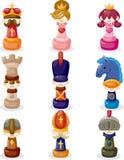 Cartoon chess  Royalty Free Stock Photo