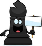 Cartoon Chess Bishop Sign Royalty Free Stock Photo