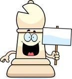Cartoon Chess Bishop Sign Stock Image