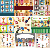 Cartoon chess card Royalty Free Stock Image