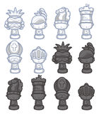 Cartoon chess isolated Stock Photo