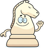 Cartoon Chess Knight Waving Royalty Free Stock Photos