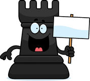 Cartoon Chess Rook Sign Royalty Free Stock Photo