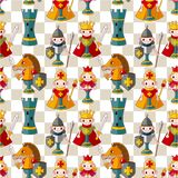 Cartoon chess seamless pattern Stock Photo