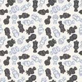 Cartoon chess seamless pattern Royalty Free Stock Images