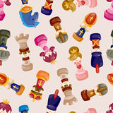 Cartoon chess seamless pattern Royalty Free Stock Image