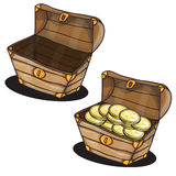 Cartoon chest Royalty Free Stock Image