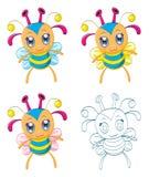 Cartoon chibi fantasy creatures Stock Photography