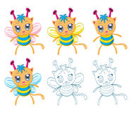 Cartoon chibi fantasy creatures Royalty Free Stock Photos