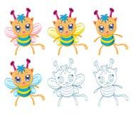 Cartoon chibi fantasy creatures Royalty Free Stock Photos