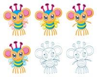 Cartoon chibi fantasy creatures Stock Images