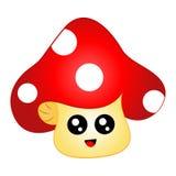 Cartoon Chibi Mushroom with face Royalty Free Stock Image
