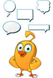 Cartoon Chick Character Stock Photo