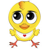 Cartoon chicken. Funny cartoon chicken on a white background Royalty Free Stock Photography