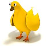 Cartoon Chicken. Concept art of a cartoon Chicken. 3D render Stock Image