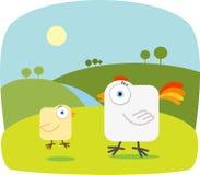 Cartoon Chicken. With Big Eye Stock Image
