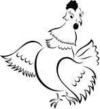 Cartoon Chicken Royalty Free Stock Photo