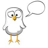 Cartoon chicken blackwhite Stock Photos
