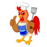 Cartoon chicken chef. Illustration of Cartoon chicken chef Stock Images