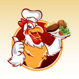 Cartoon chicken chef Royalty Free Stock Photography
