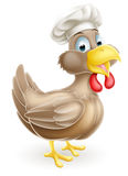 Cartoon Chicken Cook. A cartoon chicken mascot wearing a cook or chef hat Royalty Free Stock Images