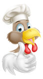 Cartoon Chicken Cook Stock Photo