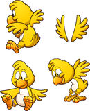 Cartoon chicken. Cute cartoon chicken with different poses. Vector clip art illustration with simple gradients. Each on a separate layer Royalty Free Stock Images