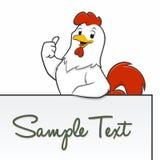 Cartoon Chicken Frame  Border. Happy  cartoon chicken for frame border element Stock Image