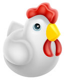 Cartoon chicken icon Stock Image