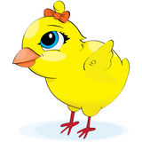 Cartoon chicken. illustration. On a white background Royalty Free Stock Images