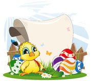 Easter invitation Stock Images