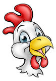 Cartoon Chicken Rooster Character. A cute cartoon chicken rooster character Royalty Free Stock Photo