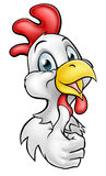 Cartoon Chicken Rooster Stock Image