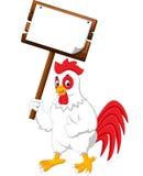 Cartoon chicken rooster Stock Image