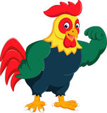 Cartoon chicken rooster posing. Illustration of Cartoon chicken rooster posing Royalty Free Stock Image