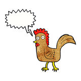 cartoon chicken with speech bubble Royalty Free Stock Photo