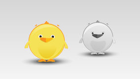 Cartoon Chicken in Vector Royalty Free Stock Photography