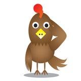 Cartoon chicken. Vector illustration Stock Images