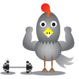 Cartoon chicken. Vector illustration Stock Photos