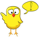 Cartoon chicken wave yellow Stock Images