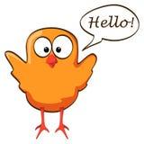 Cartoon chicken wings up orange Royalty Free Stock Image