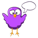 Cartoon chicken wings up violet Stock Images