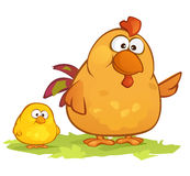 Cartoon Chickens royalty free stock photo