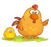 Cartoon Chickens Royalty Free Stock Photo