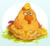 Cartoon Chickens royalty free stock image