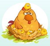 Cartoon Chickens Royalty Free Stock Image