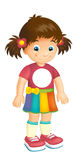 Cartoon child - activity - illustration for children Stock Image