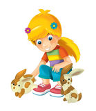 Cartoon child - activity - illustration for children Royalty Free Stock Photo