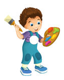 Cartoon child - activity - illustration for children Stock Images
